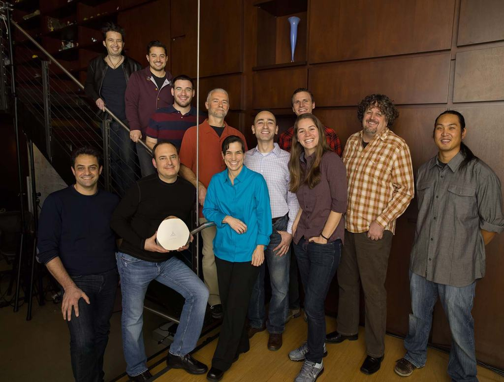 The 12-person Artemis Networks team.