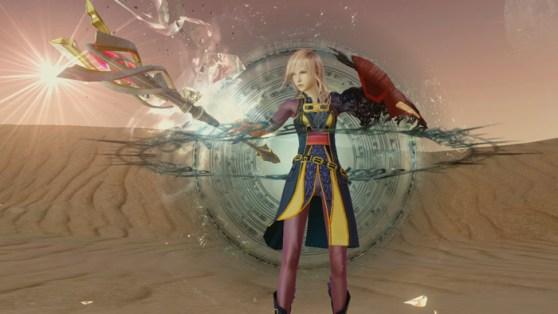 Lightning Returns - Dead Dunes Battle Screen