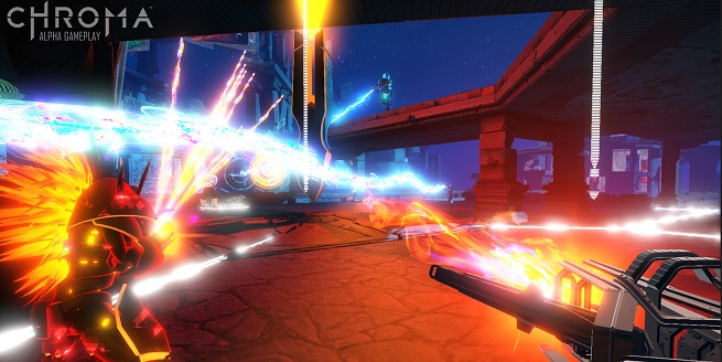 Harmonix's Chroma musical first person shooter