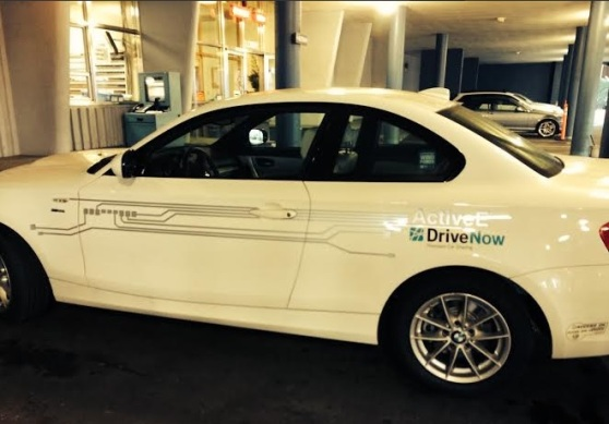 A DriveNow car at the San Francisco facility.