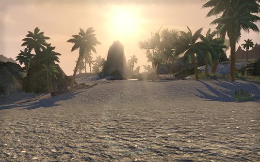A desert island zone from The Elder Scrolls Online.