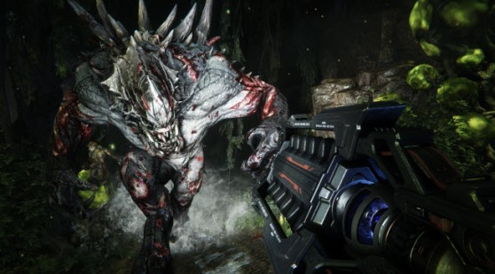 A Goliath vs a gun in Evolve