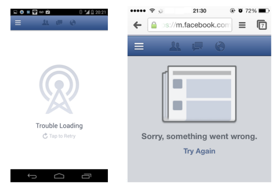 Error messages appear when you try to revoke an app's permissions from Facebook, if the app is using a malicious script.