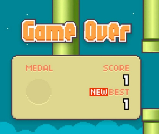 Flappy Bird game over