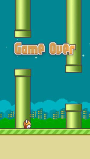 Updated Flappy Bird screen