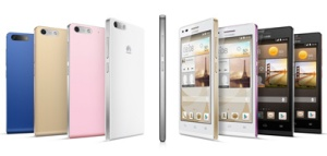 The Ascend G6 comes in a range of colors.