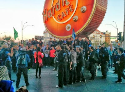 The Ingress live event drew two factions to the Hard Rock Hotel in Las Vegas.