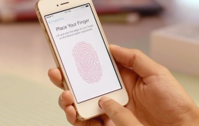 An iPhone 5S owner sets up Touch ID.
