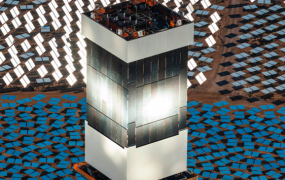 One of the three towers at Ivanpah.