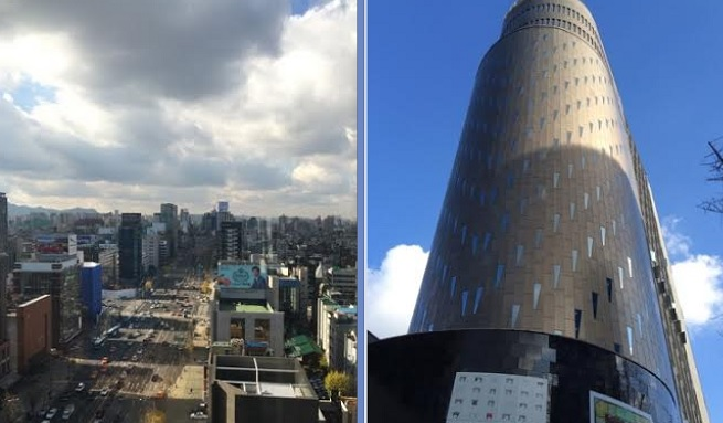 The view of Seoul from Kabam's office, pictured right.