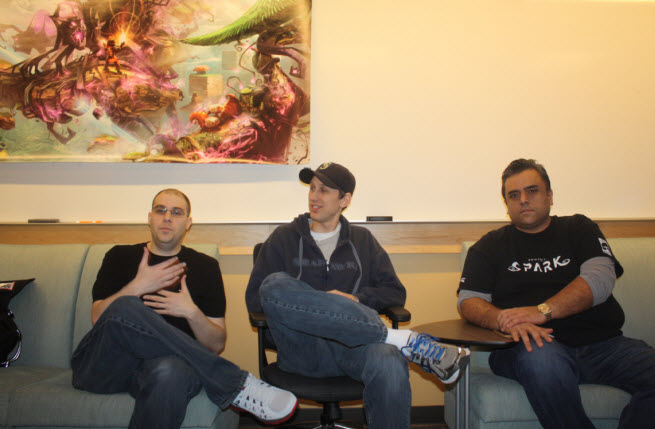 Henry Sterchi, Brad Rebh, and Rahul Sandil of Team Dakota, maker of Project Spark