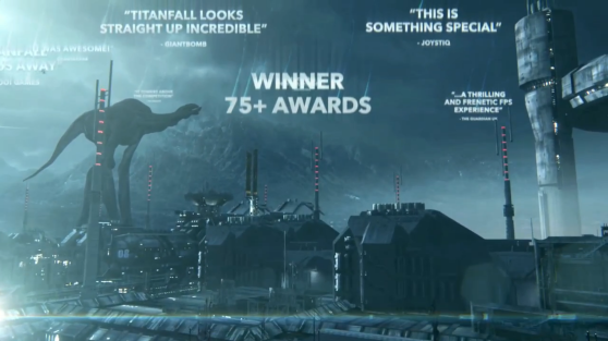 That shadowy giant is a leviathan from Titanfall's Boneyard map.