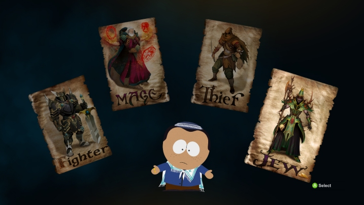 The Jew is its own class in South Park: The Stick of Truth. And it's a hoot.