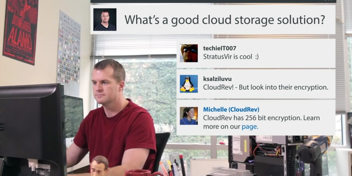 A still from a Spiceworks promotional video.