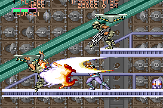 Hiryu's first directive as a Strider takes him across the world in search of Grandmaster Meio, a mysterious and powerful being set to conquer our planet. Capcom ported Strider to home consoles like the TurboGrafx-16 and Genesis. The NES version, though, is different from the arcade game – focusing less on action and more on exploration.
