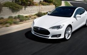 A Tesla Model S car.