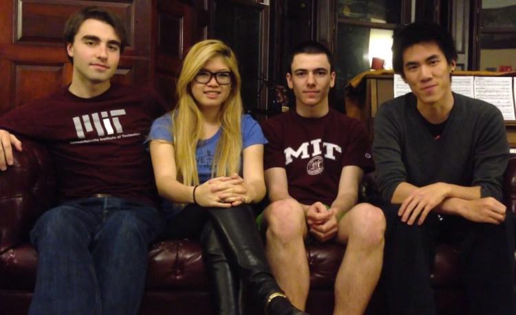 The four-member Tidbit development team, also known as Team Shoop.