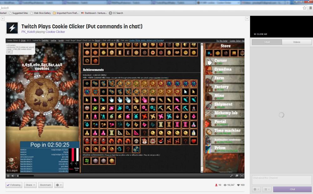 Twitch Plays Cookie CLicker