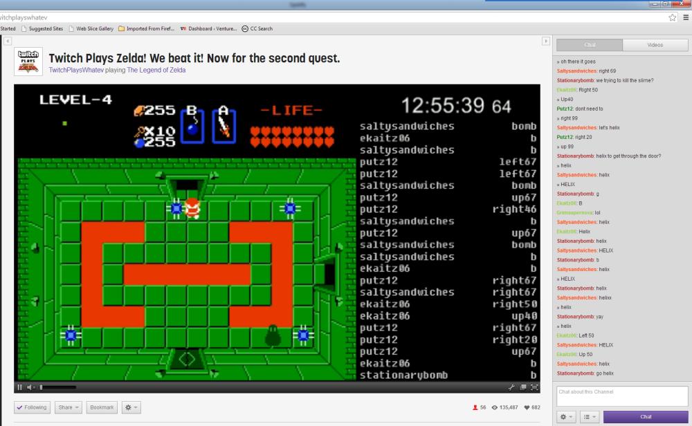 Twitch Plays Zelda