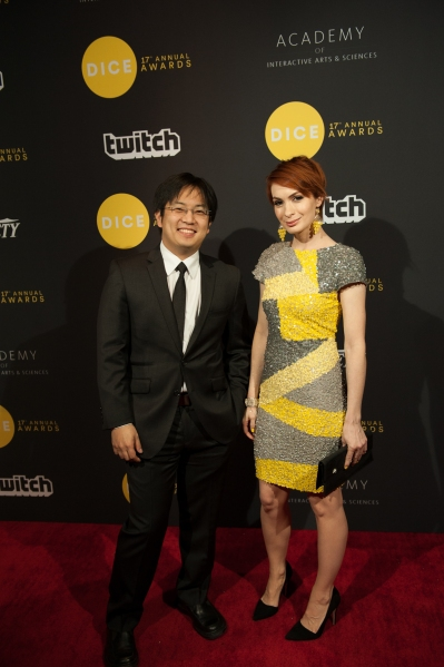 YouTube sensations Freddie Wong and Felicia Day hosted the awards show at Dice.