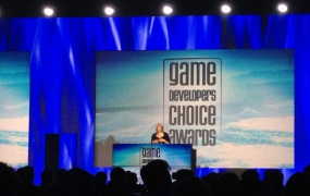 Respawn Community Manager Abbie Heppe hosts the 2014 Game Developers Choice Awards