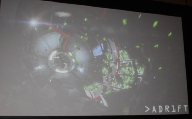 """Orth is working on a new gamed called  """"Adr1ft,"""" in which players take on the role of an astronaut following a terrible accident"""