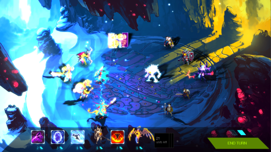 Real-time lighting is a big part of Duelyst's visuals.