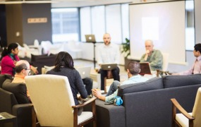 A group of Castlight Health employees in the company's San Francisco office.