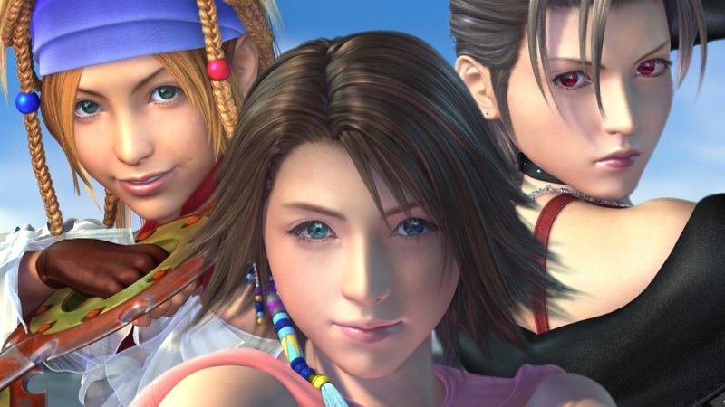 Yuna, Rikku, and newcomer Paine are the stars in Final Fantasy X-2.