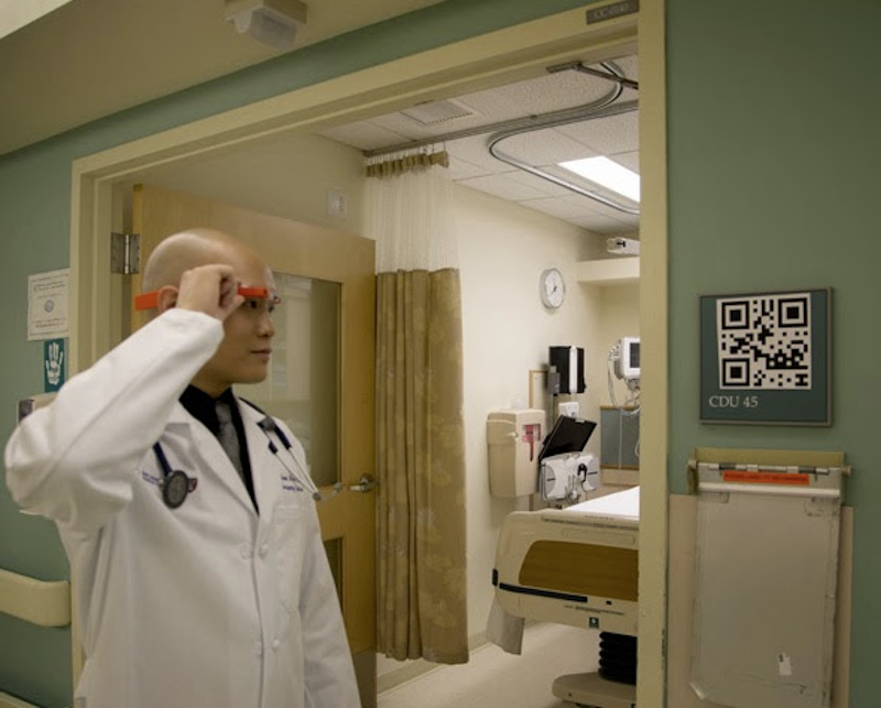 A soon-to-be-common headgear in hospitals?