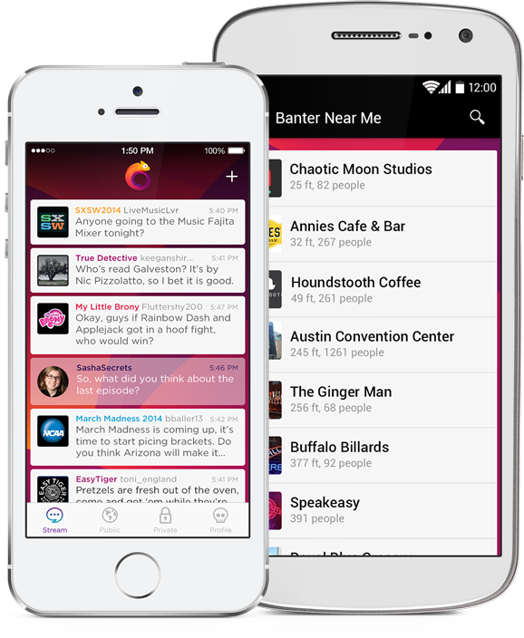 Chat room for mobile