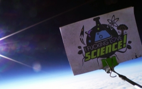"""The """"I f*cking love science"""" logo in space"""