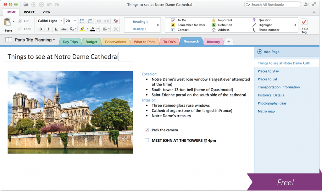 word to onenote mac