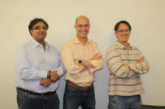 Unni Narayanan,  Shawn Hardin, Michael Fu of Mind Pirate.