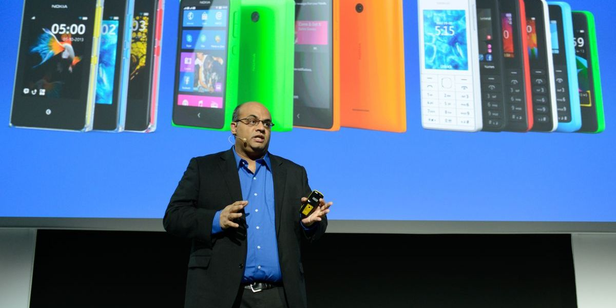 Nokia's developer relations head Amit Patel at Mobile World Congress 2014.