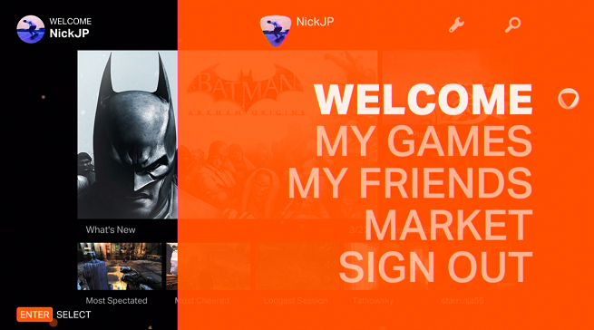 OnLive CloudLift interface