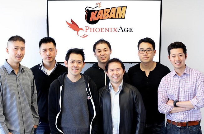Phoenix Age founders from left to right:  Edwin Shew, William Liu, Marvin Gouw, Jeffery Kong, Ko Chiu, Bennie Huang, and Lawrence Koh.