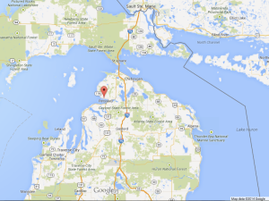 Harbor Springs, MI is marked in red