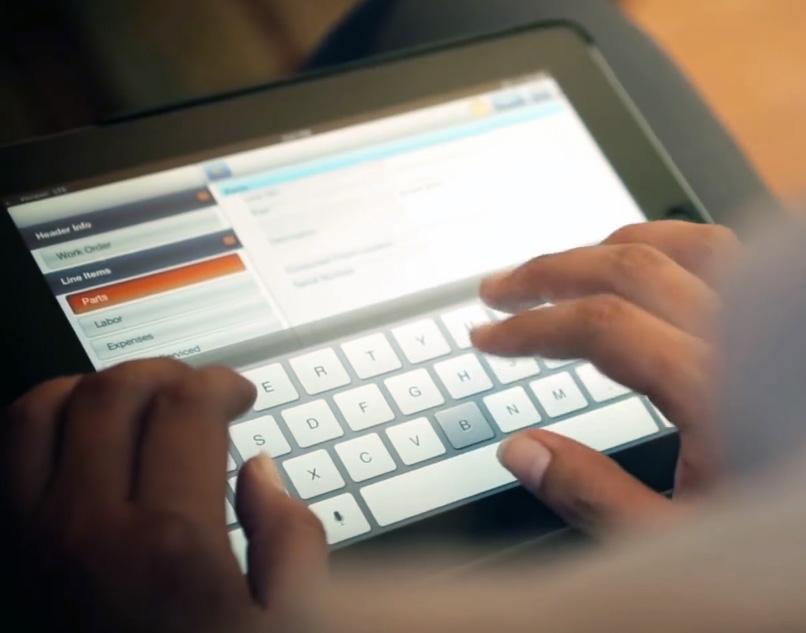 ServiceMax on an iPad