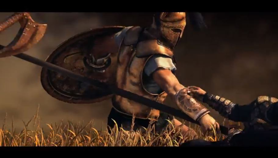 A scene from the cinematic trailer for Plarium's Sparta: War of Empires.