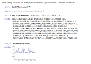You can do SQL queries from within the Wolfram Language.