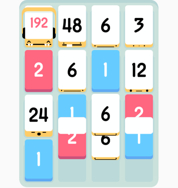 threes gameplay