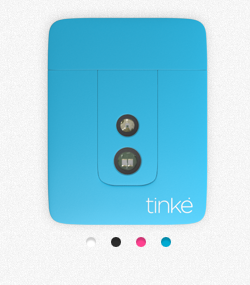 The Tinké, a tiny device for measuring heart rate and blood oxygenation.
