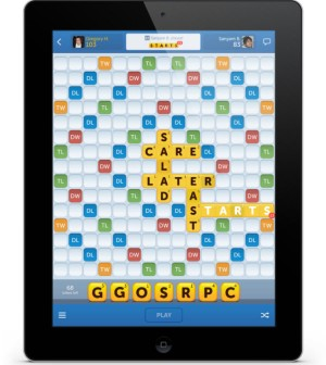 Words With Friends on a tablet.