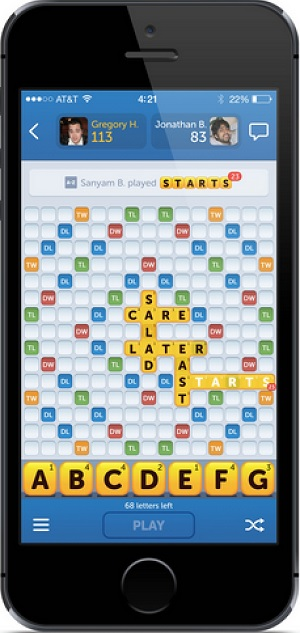 The new Words With Friends