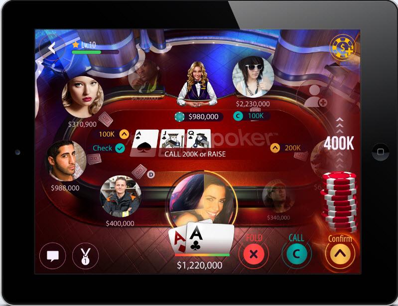 zynga poker mobile web