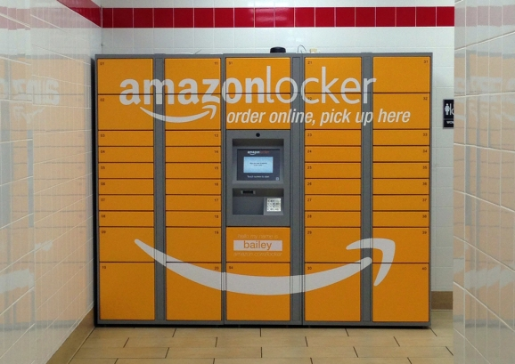 An Amazon locker in San Francisco, California.