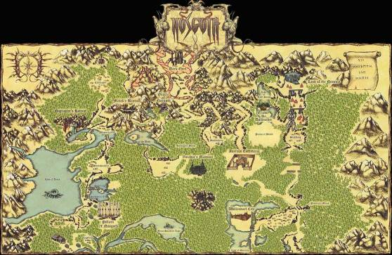 Map of Nosgoth from Blood Omen