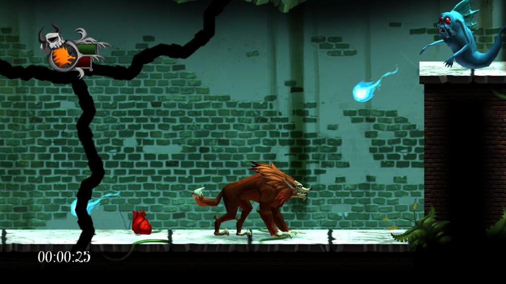 Blood of the Werewolf is inspired by Castlevania, but it adds twists. For example, stepping into the light turns you into a werewolf.