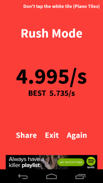 You should try to beat my scores!